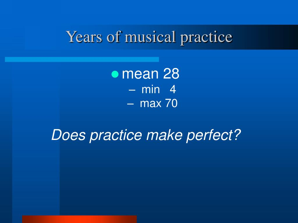 Years of musical practice