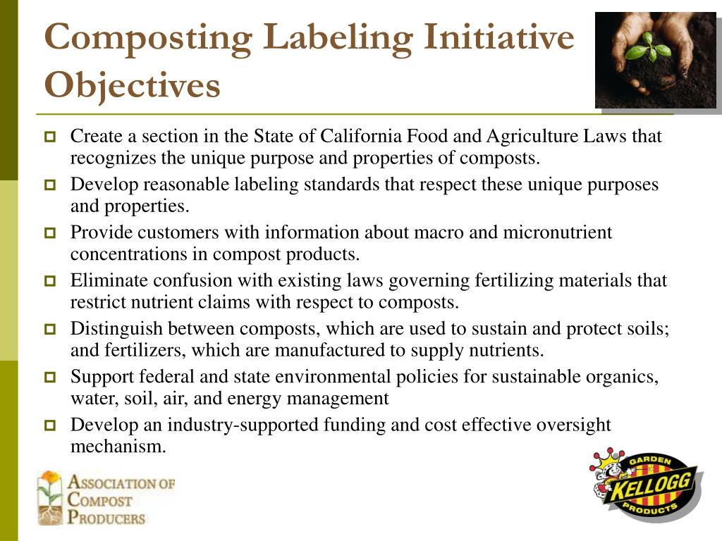 Composting Labeling Initiative Objectives