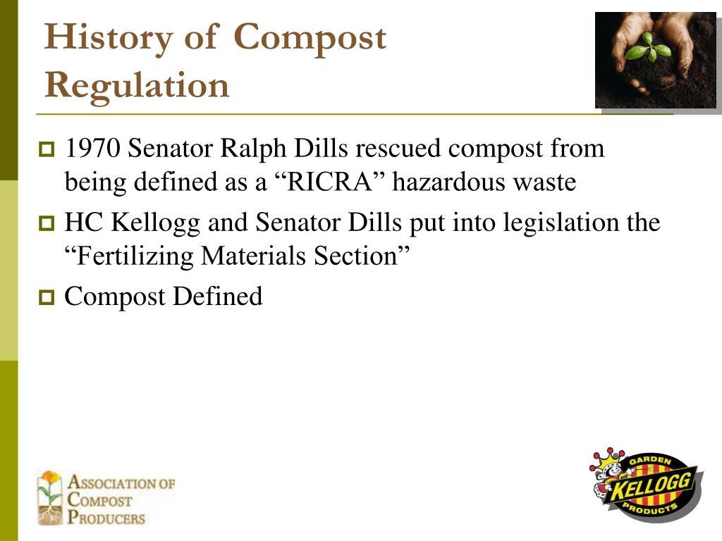History of Compost Regulation