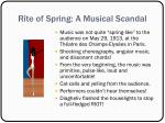 rite of spring a musical scandal