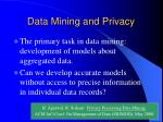 data mining and privacy