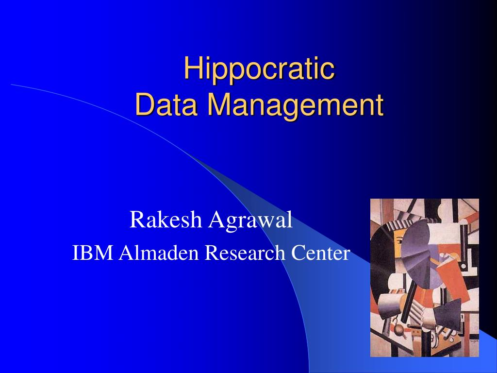 hippocratic data management l.