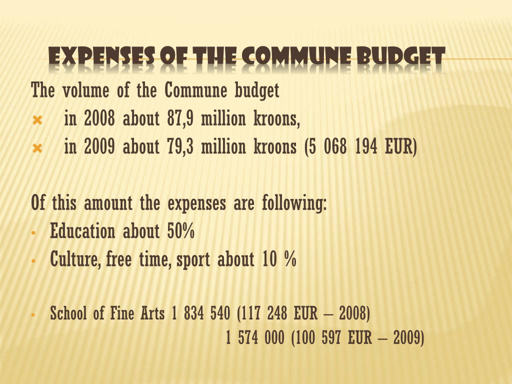 The volume of the Commune budget