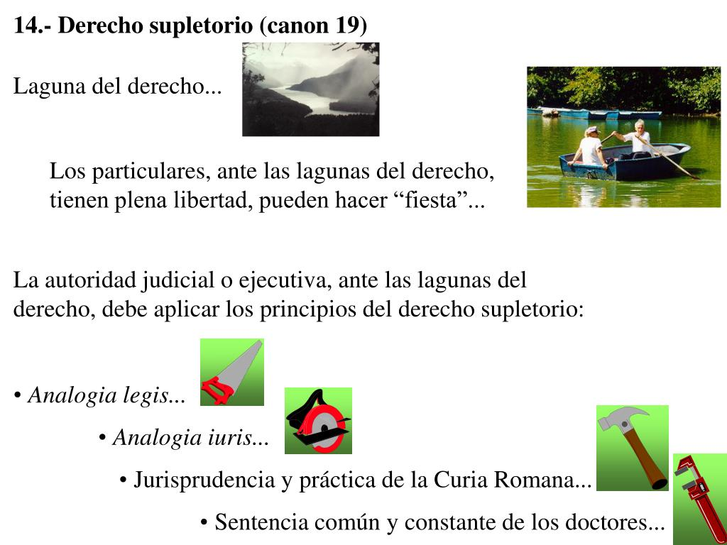 14.- Derecho supletorio (canon 19)