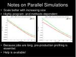 notes on parallel simulations