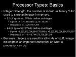 processor types basics