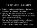 project level parallelism