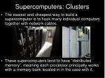 supercomputers clusters
