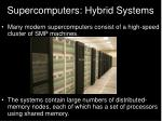 supercomputers hybrid systems
