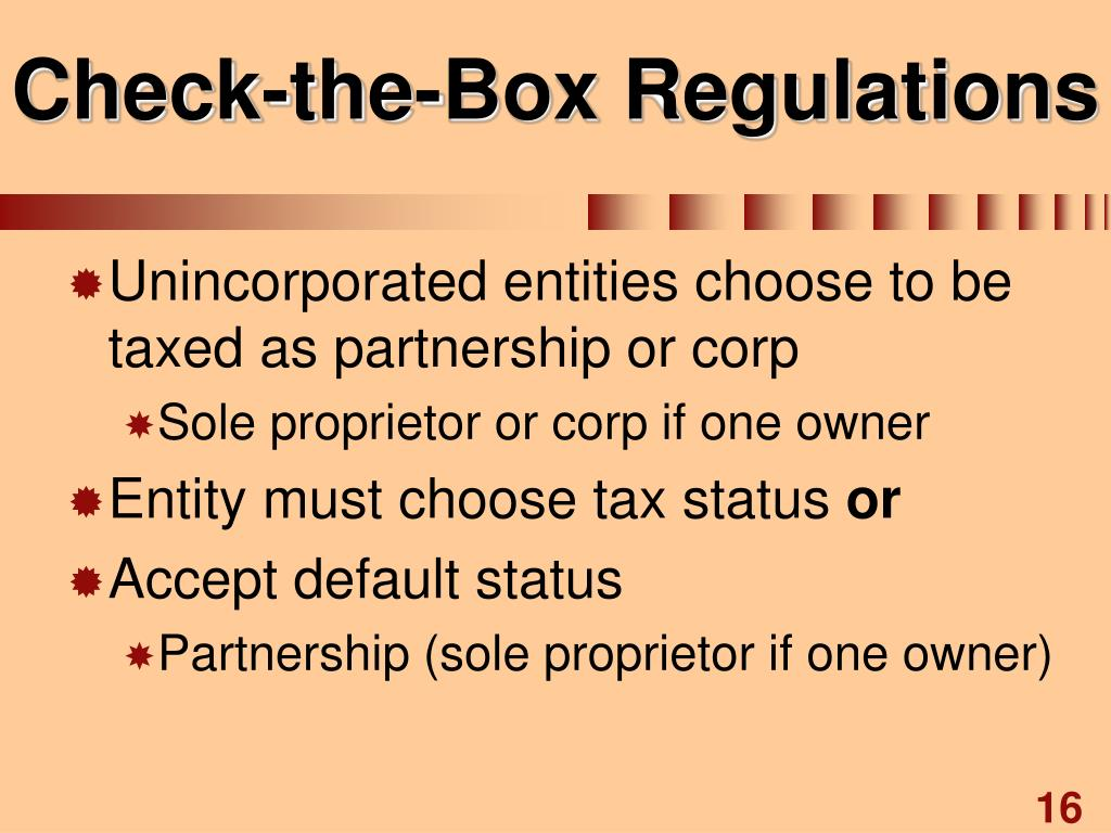 Check-the-Box Regulations
