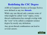 redefining the csc degree