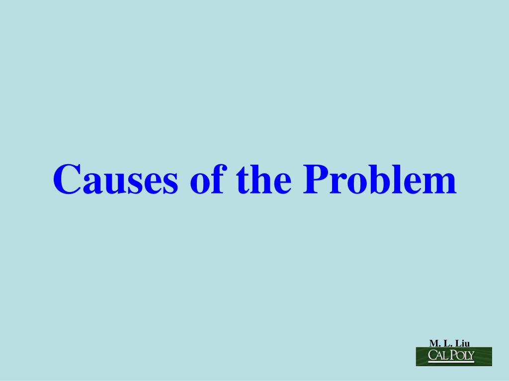 Causes of the Problem