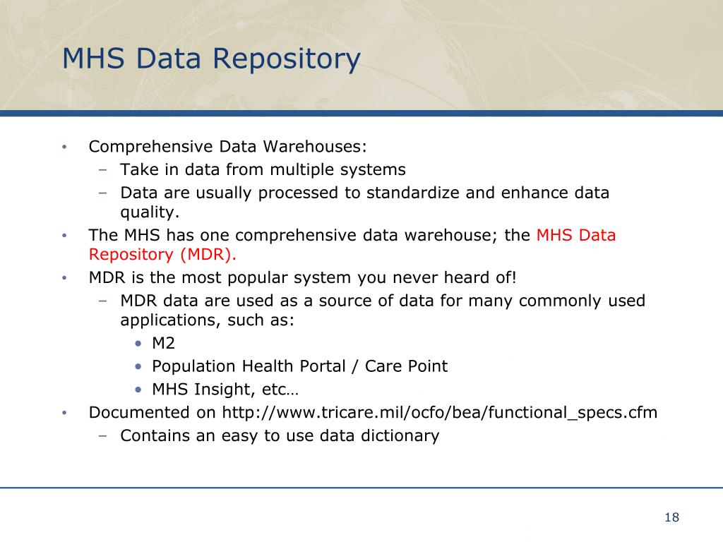 MHS Data Repository