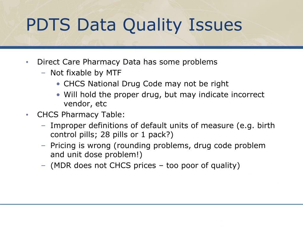 PDTS Data Quality Issues