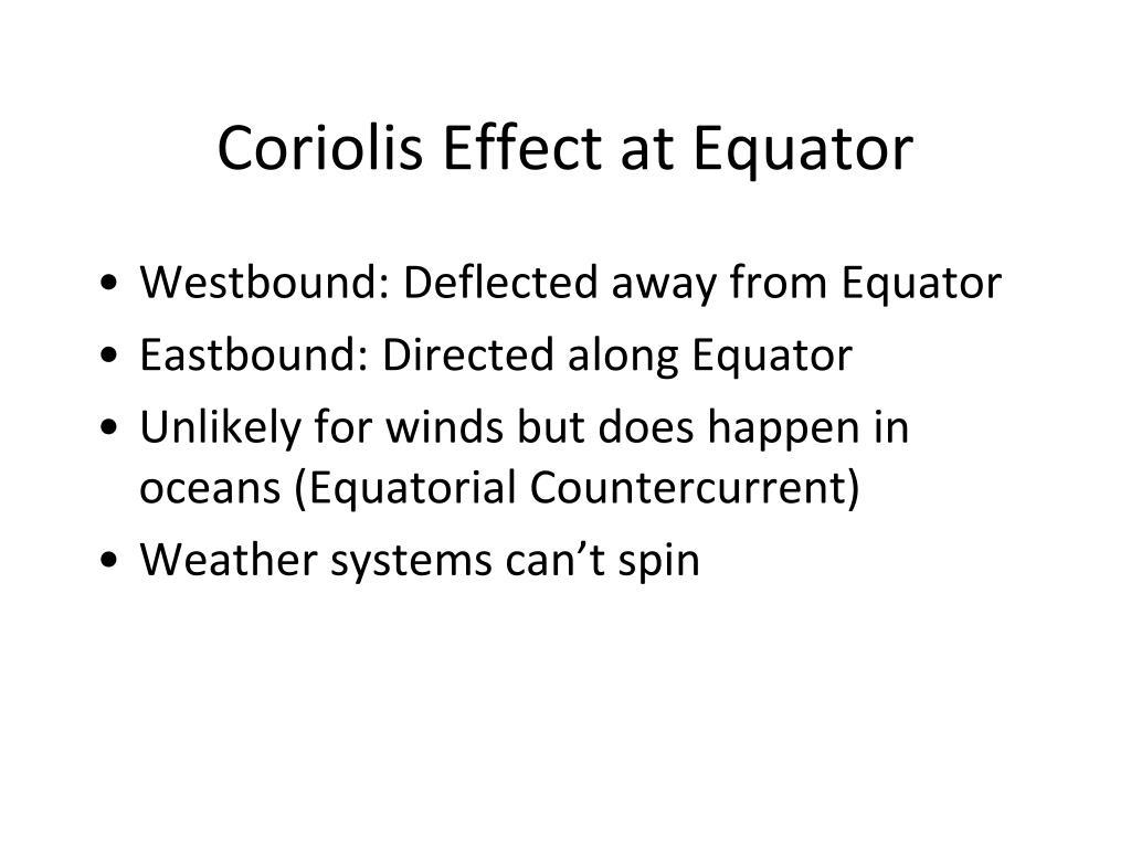 Coriolis Effect at Equator