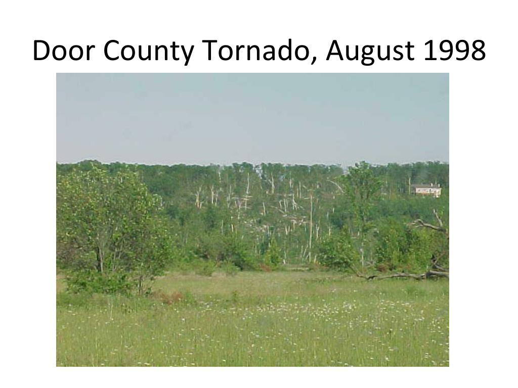 Door County Tornado, August 1998