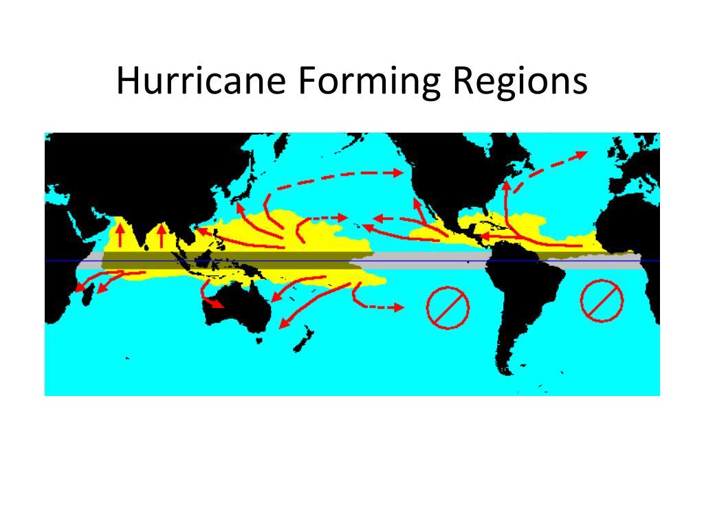 Hurricane Forming Regions