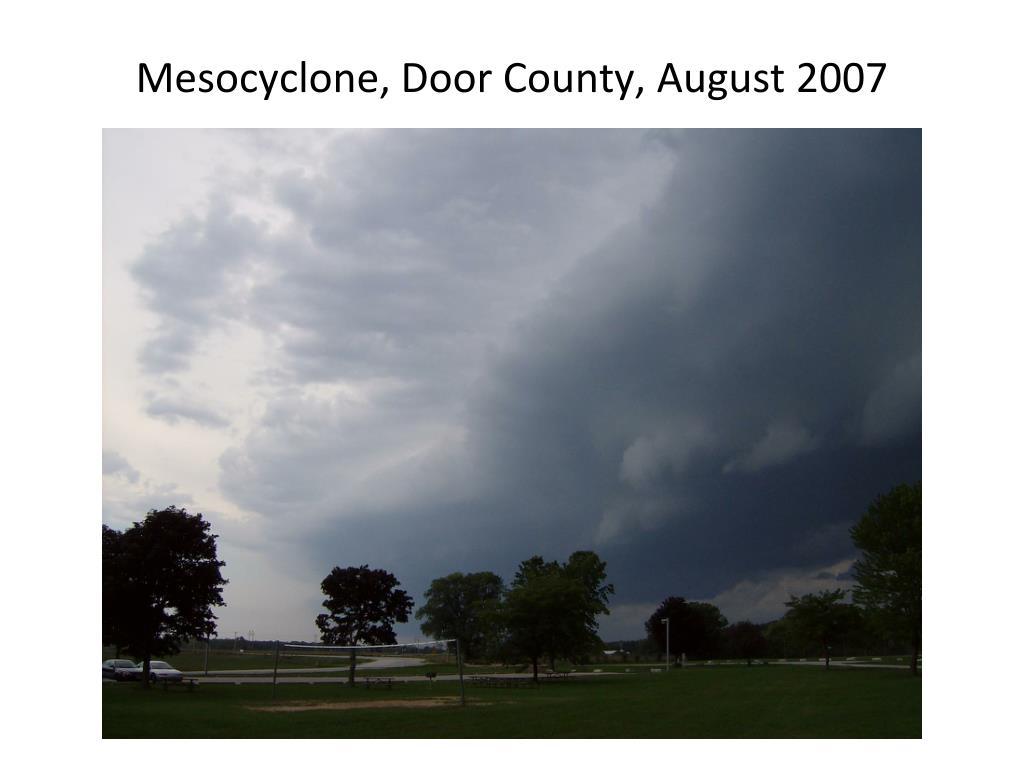 Mesocyclone, Door County, August 2007