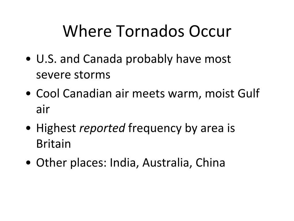 Where Tornados Occur
