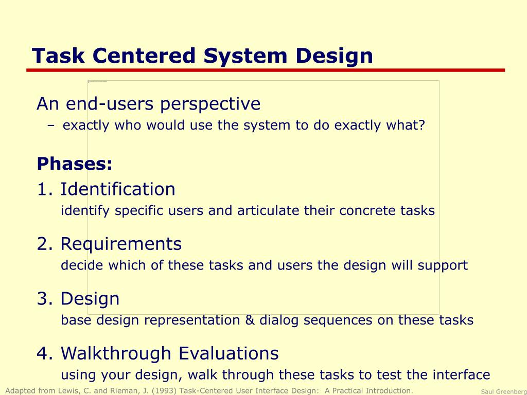 Ppt Task Centered System Design Powerpoint Presentation Free Download Id 666594