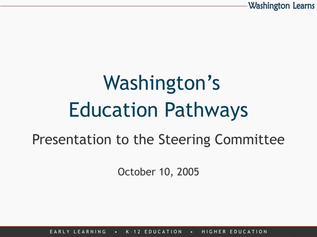 Washington's Education Pathways