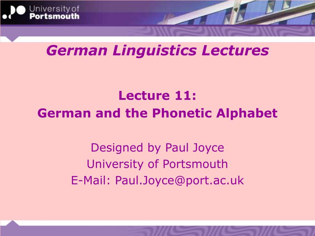 Ppt German Linguistics Lectures Powerpoint Presentation Free Download Id 666615