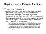 replication and failover facilities