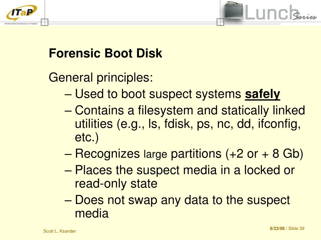 Forensic Boot Disk