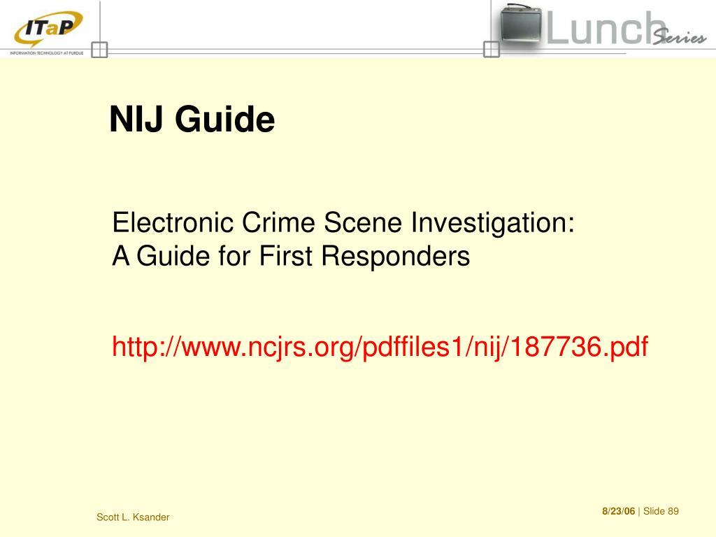 NIJ Guide