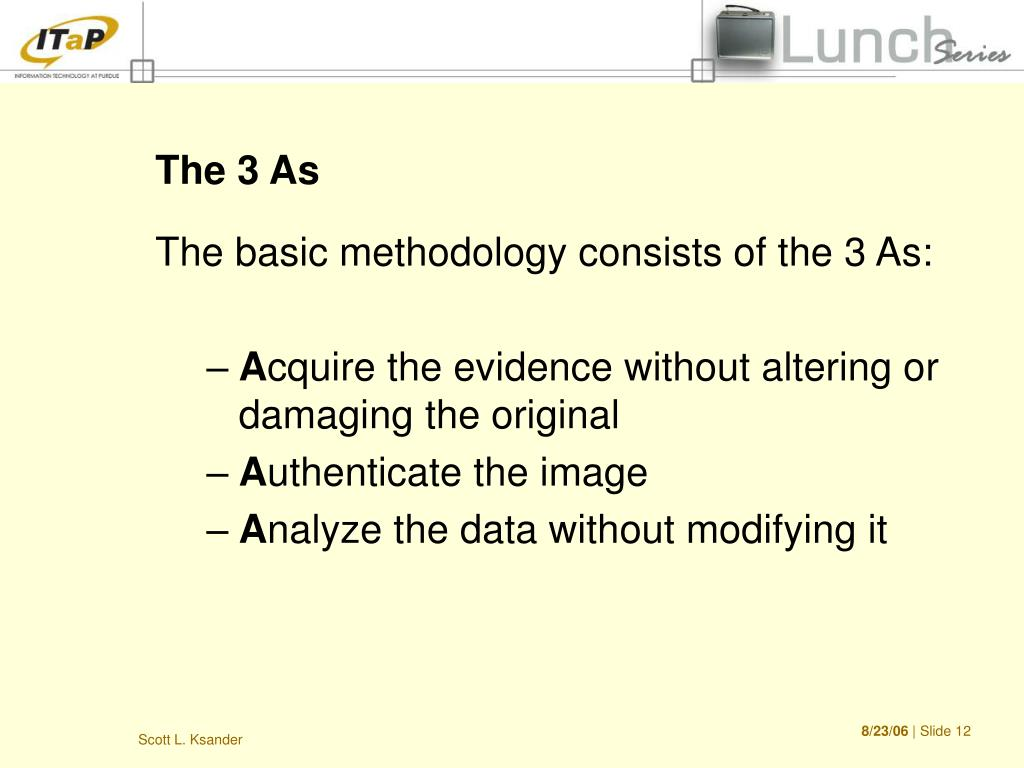 The 3 As