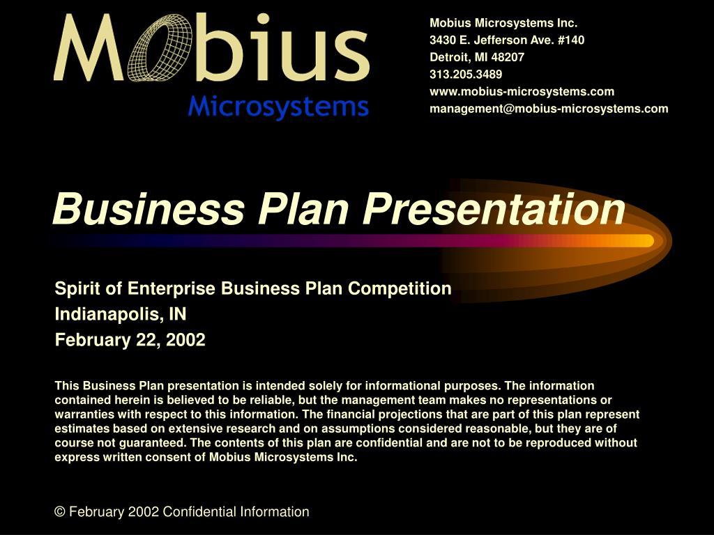business plan presentation l.