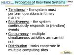 properties of real time systems
