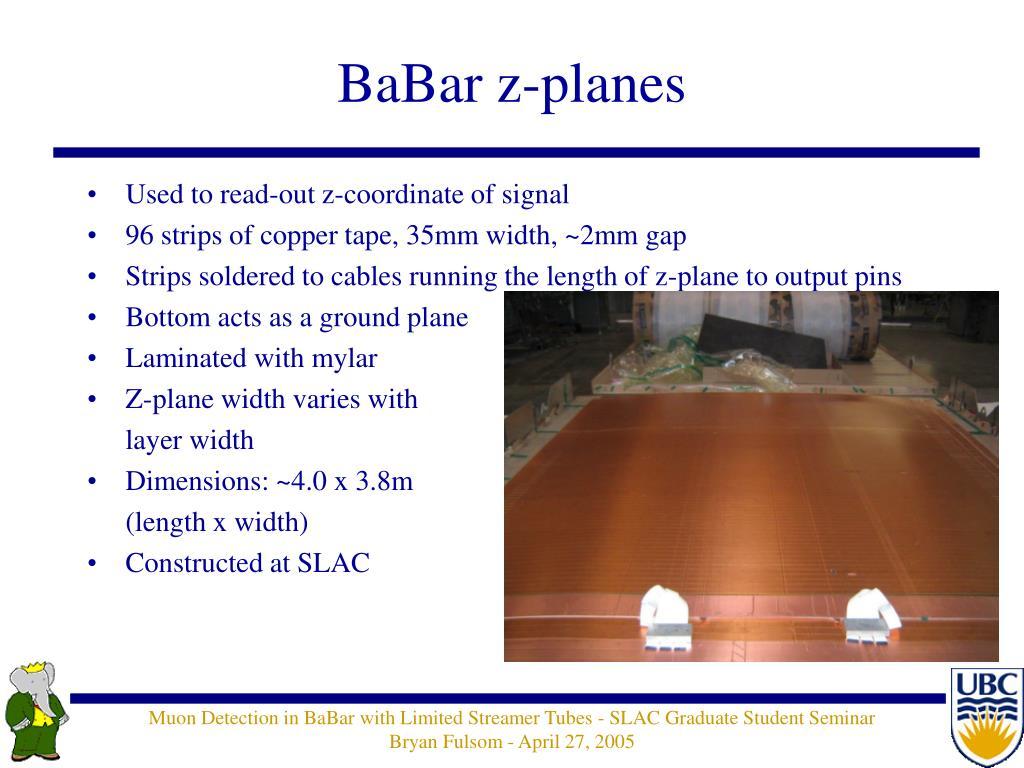 BaBar z-planes