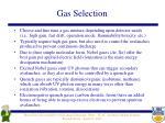 gas selection
