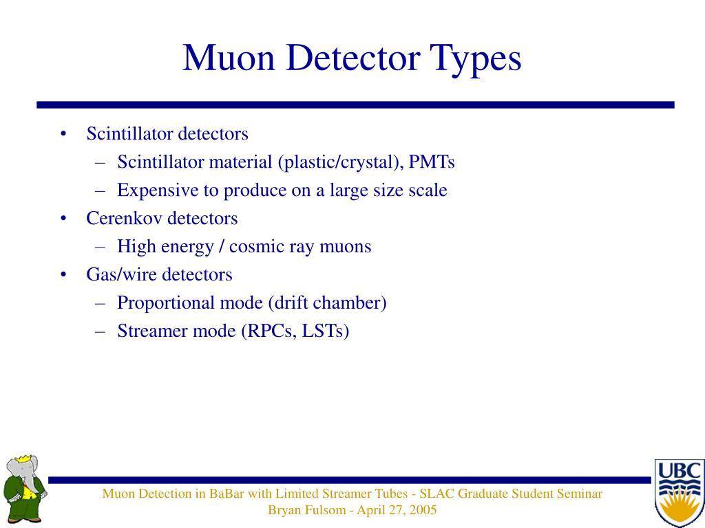Muon Detector Types