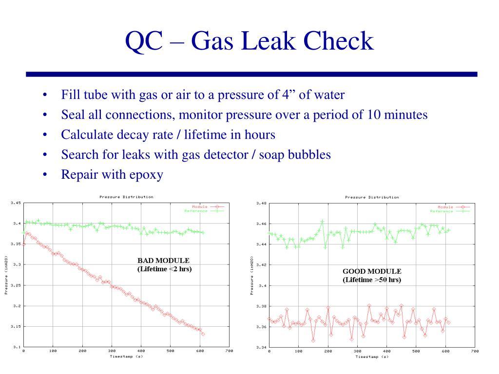 QC – Gas Leak Check