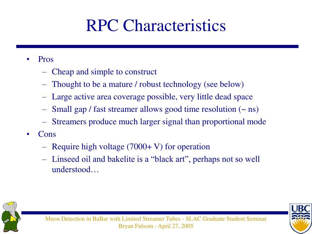 RPC Characteristics