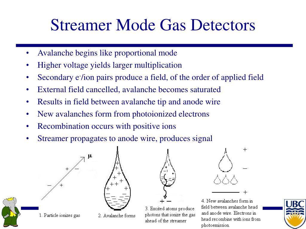 Streamer Mode Gas Detectors