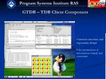gtdb tdb client component