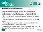 need for measurement