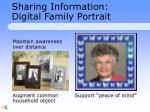 sharing information digital family portrait