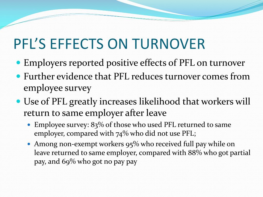 PFL'S EFFECTS ON TURNOVER
