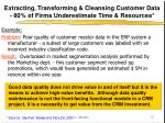extracting transforming cleansing customer data 80 of firms underestimate time resources