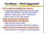 fox meyer what happened