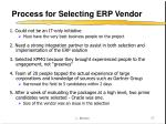 process for selecting erp vendor