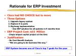 rationale for erp investment