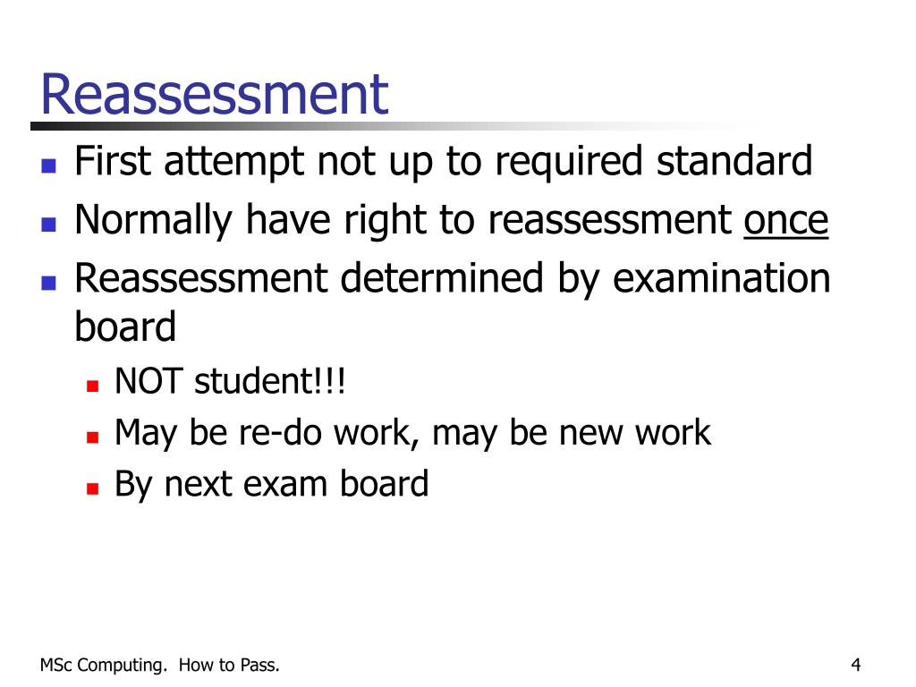 Reassessment