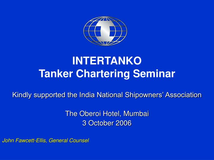 intertanko tanker chartering seminar n.