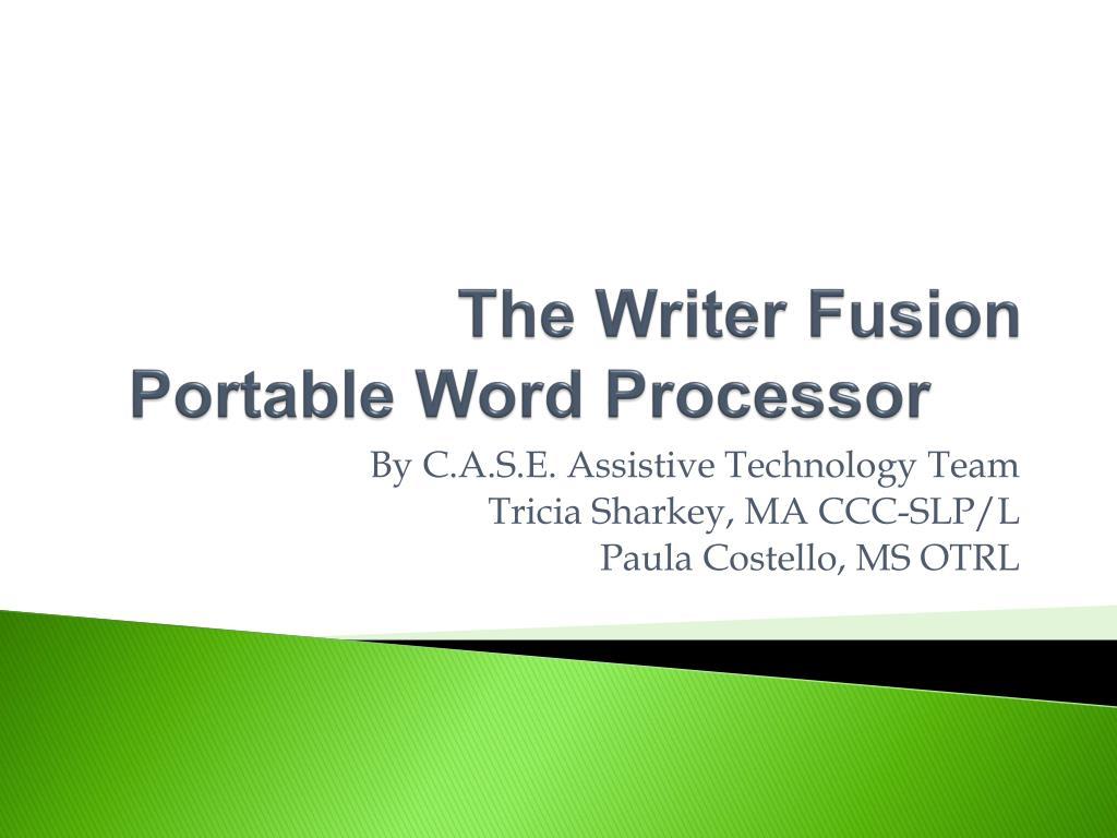 the writer fusion portable word processor l.