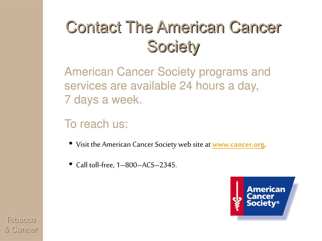 Contact The American Cancer Society